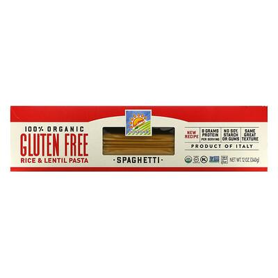 Bionaturae 100% органические макаронные изделия из риса и чечевицы без глютена, спагетти, 340г (12унций)