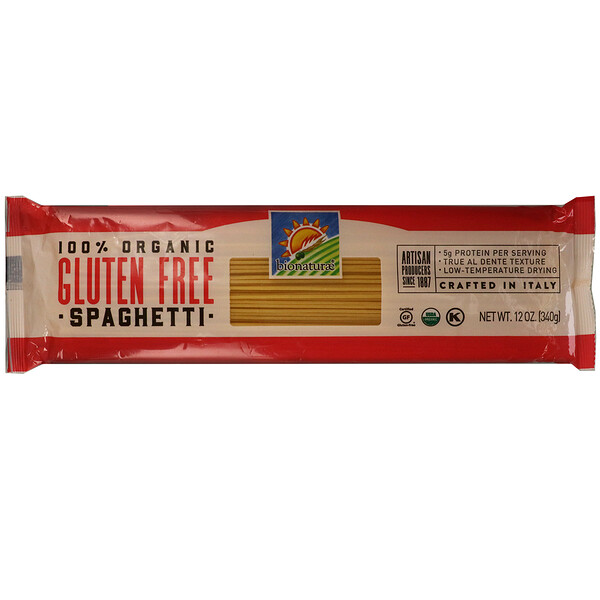 Bionaturae, 100% Organic Gluten Free Spaghetti, 12 oz (340 g)