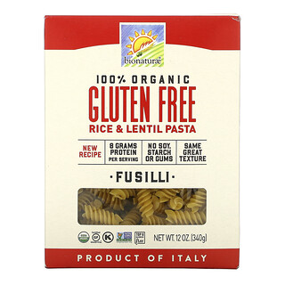 Bionaturae, 100% Organic Gluten Free Rice & Lentil Pasta, 12 oz (340 g)