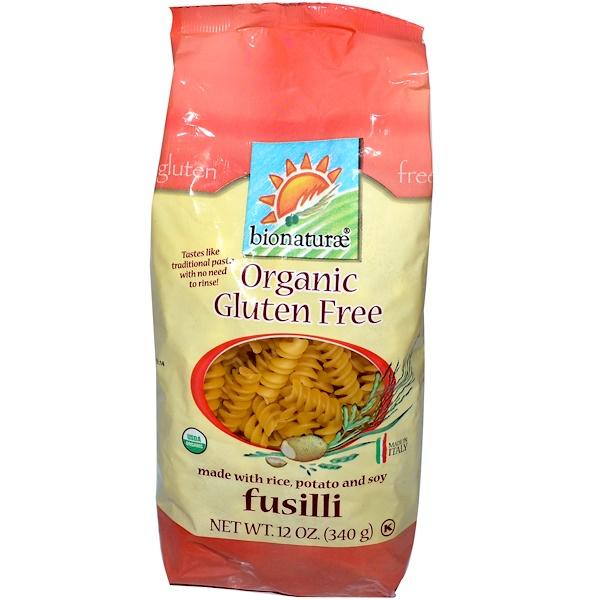 Bionaturae, Organic Gluten Free Pasta, Fusilli, 12 oz (340 g)