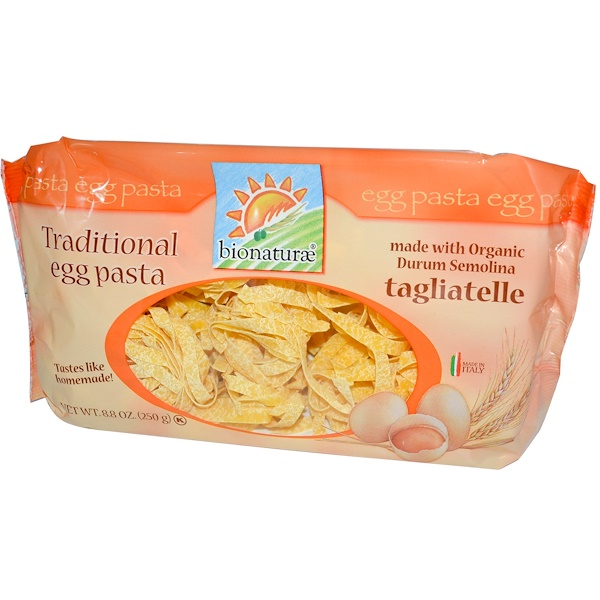 Bionaturae, Traditional Egg Pasta, Tagliatelle, 8.8 oz (250 g)