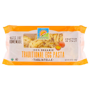 Бионатурае, 100% Organic Traditional Egg Pasta, Tagliatelle, 8.8 oz (250 g) отзывы