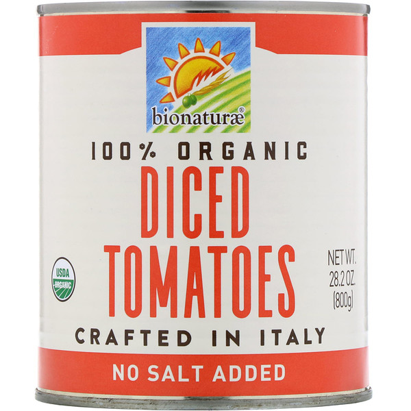 Bionaturae, 100% Organic Diced Tomatoes, 1.76 lbs (800 g) (Discontinued Item)