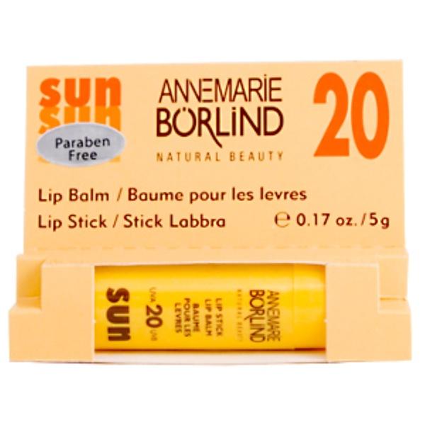 AnneMarie Borlind, Sun Lip Balm SPF 20, 0.17  fl oz (5 g) (Discontinued Item)