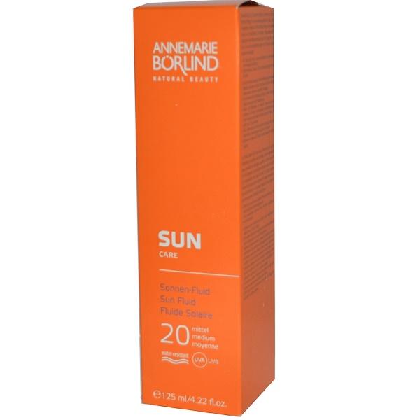 AnneMarie Borlind, Sun Care, Sun Fluid, 20 Medium, 4.22 fl oz (125 ml) (Discontinued Item)
