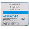 AnneMarie Borlind, AquaNature, Rehydrating Night Cream, 1.69 fl oz (50 ml)