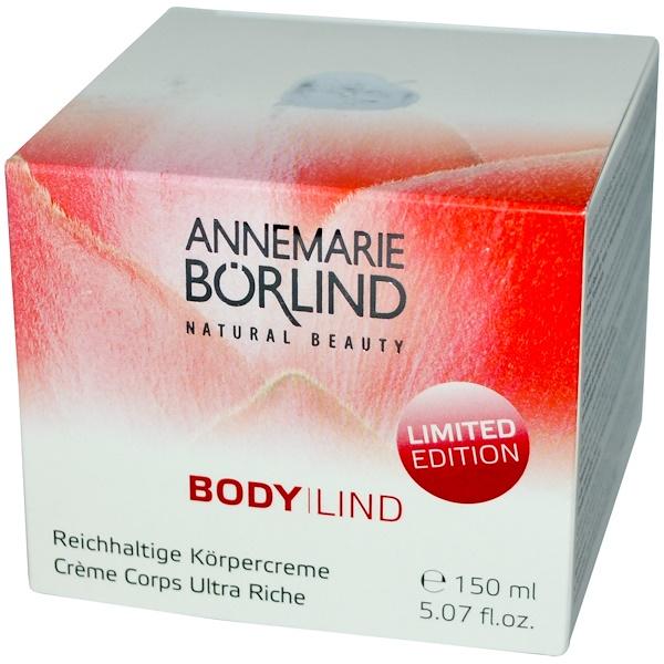 AnneMarie Borlind, Body Lind, Rich Body Cream, 5.07 fl oz (150 ml) (Discontinued Item)