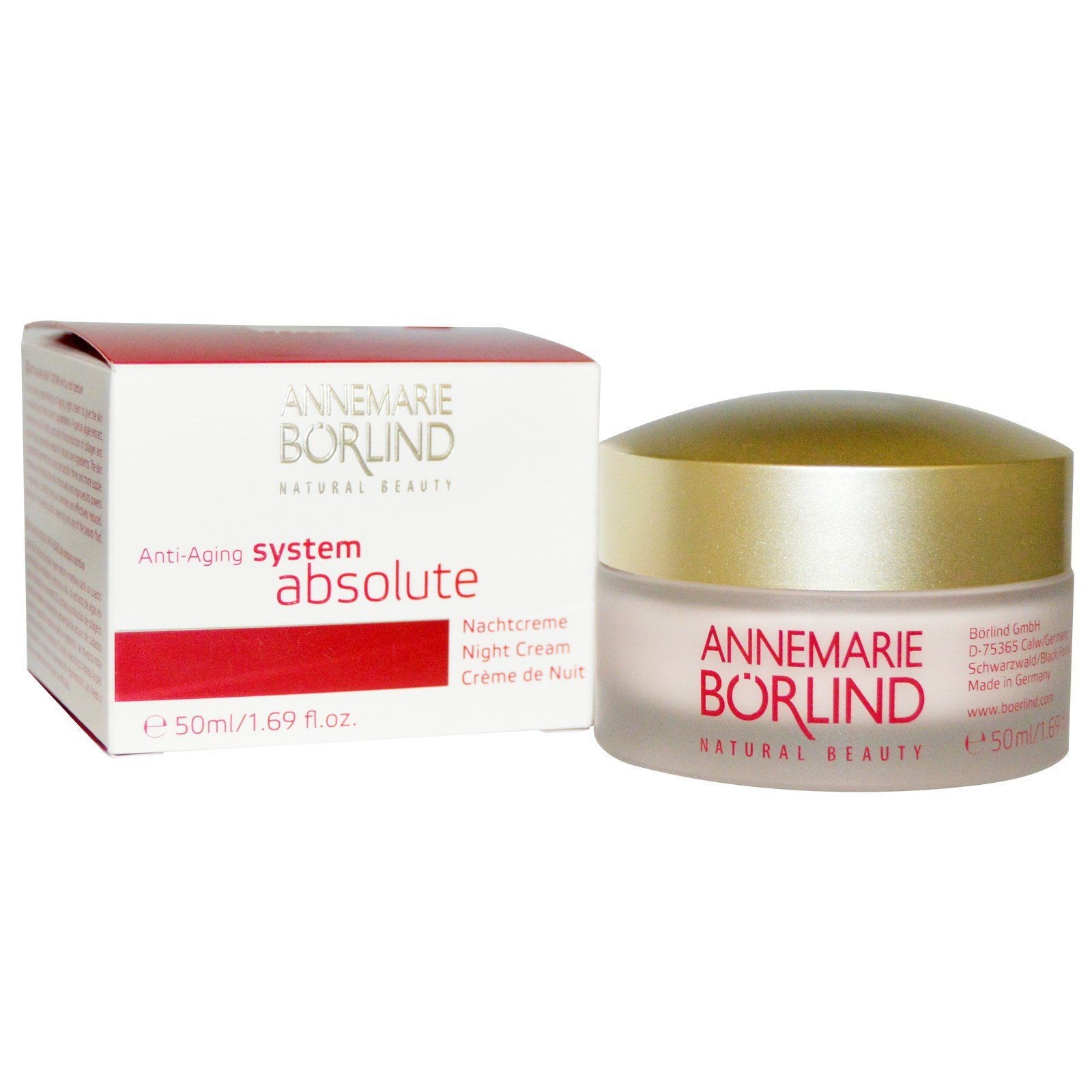 Borlind Of Germany Annemarie Borlind System Absolute Night Cream - 1.69 Oz Burt's Bees 100% Natural Moisturizing Tinted Lip Oil, Caramel Cloud, 1 ct