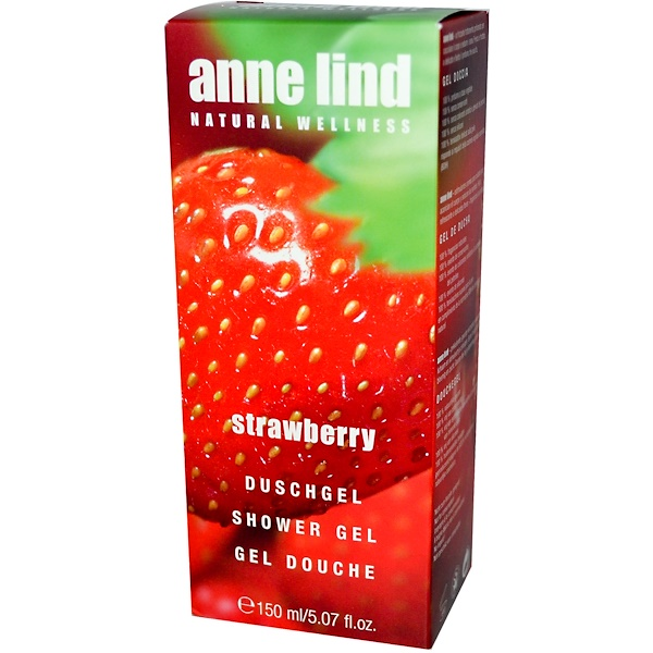 AnneMarie Borlind, Shower Gel, Strawberry, 5.07 fl oz (150 ml) (Discontinued Item)