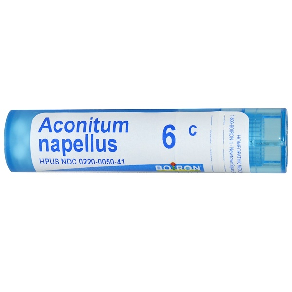 Boiron, Single Remedies, Aconitum Napellus, 6C, Approx 80 Pellets