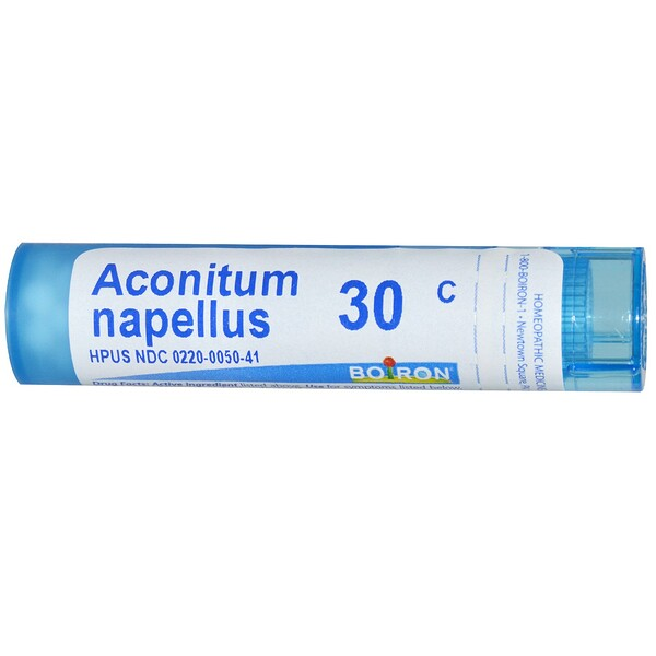 Boiron, Single Remedies, Aconitum Napellus, 30C, 約 80 粒