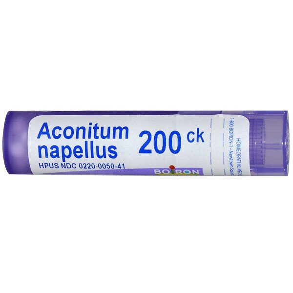 Boiron, Single Remedies, Aconitum Napellus, 200CK, Approx 80 Pellets