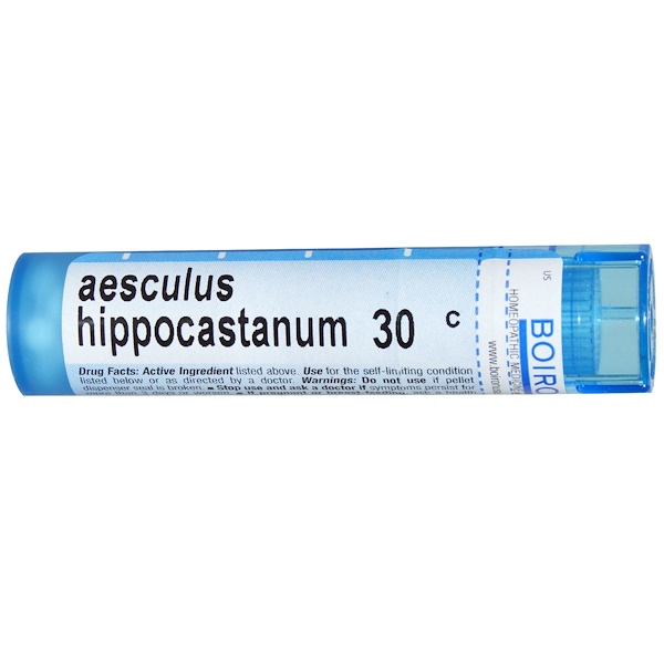 Boiron, Single Remedies, Aesculus Hippocastanum, 30C, Approx 80 Pellets