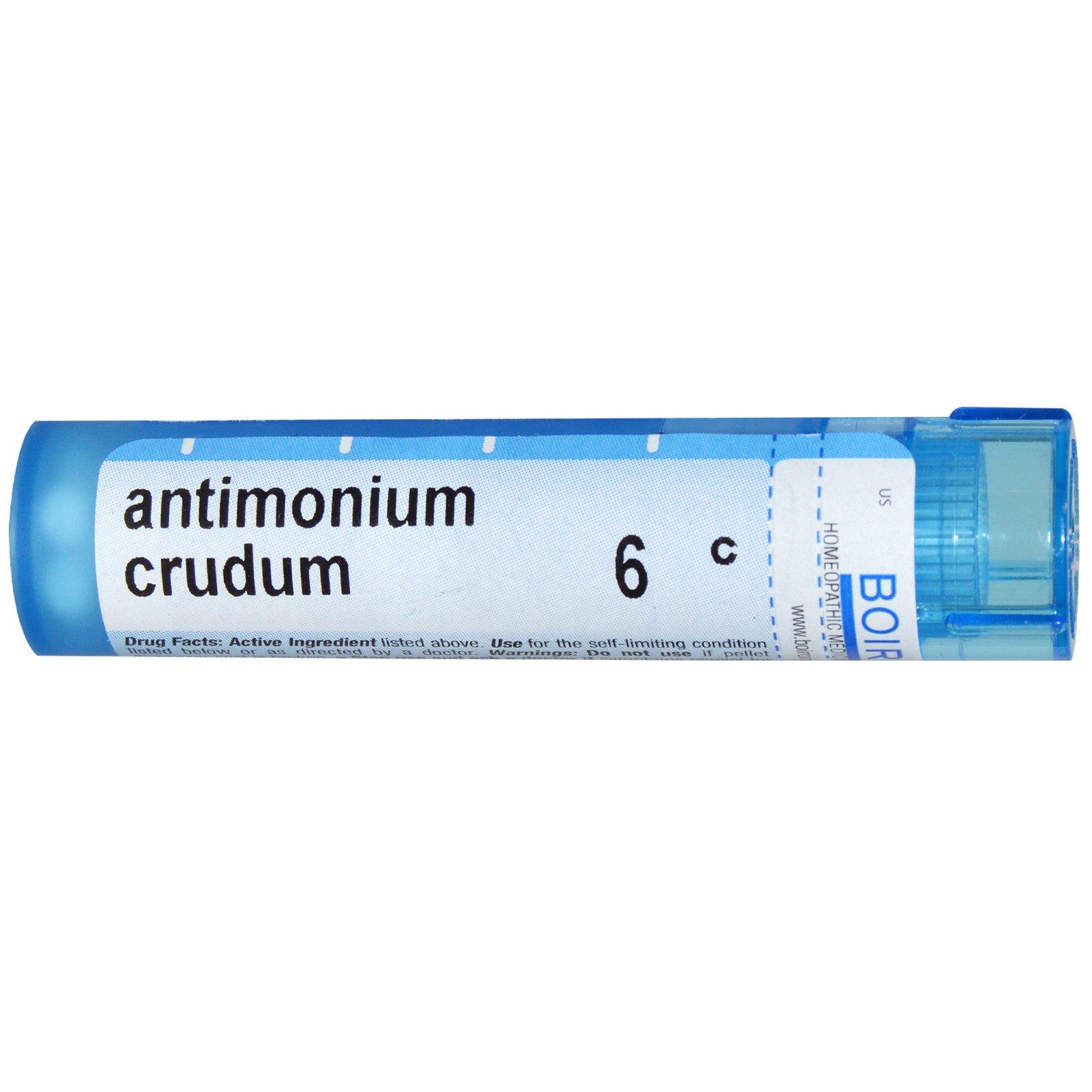 Boiron, Single Remedies, Антимониум крудум, 6C, прибл. 80 гранул