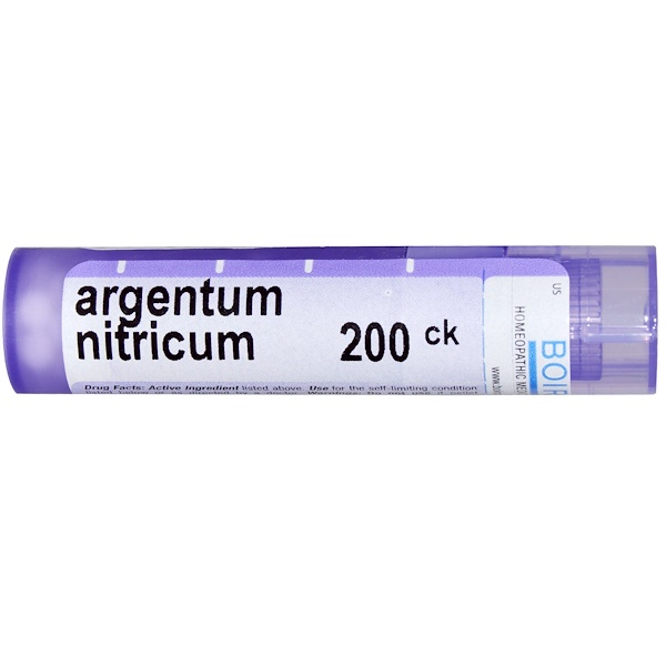Boiron, Single Remedies, Argentum Nitricum(アルゲンタム ニトリクム)、200CK、約80ペレット (Discontinued Item)