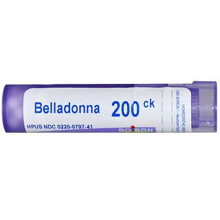 Boiron, Single Remedies, Belladonna, 200CK, Circa 80 Globuli