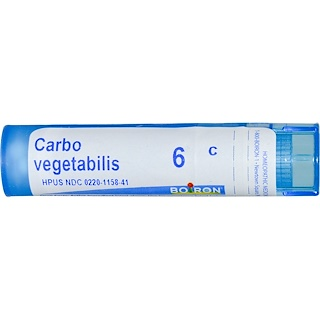 Boiron, Single Remedies, Carbo Vegetabilis, 6C, Aprox. 80 Pellets