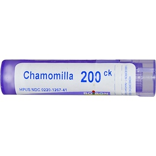 Boiron, Single Remedies, Chamomilla, 200CK, Approx 80 Pellets