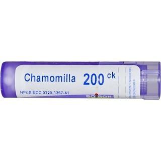 Boiron, Single Remedies, Chamomilla(カモミール)、200CK、約80ペレット