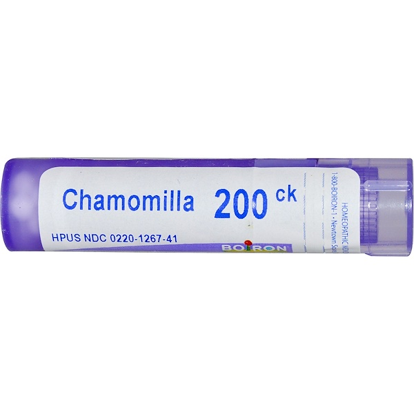 Boiron, Single Remedies, Chamomilla, 200CK, Approx 80 Pellets (Discontinued Item)