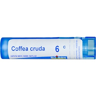 Boiron, Single Remedies, Coffea Cruda, 6C, Approx 80 Pellets