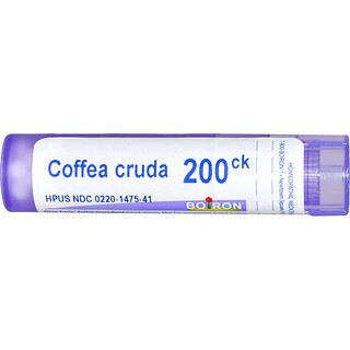 Boiron, Single Remedies, Coffea Cruda, 200CK, Approx 80 Pellets