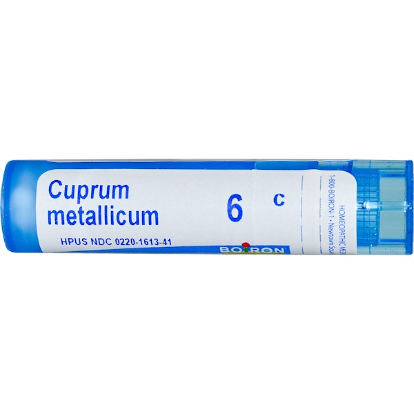 Boiron, Single Remedies, Cuprum Metallicum, 6C, Approx 80 Pellets (Discontinued Item)