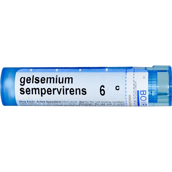 Boiron, Single Remedies, Gelsemium Sempervirens, 6C, Aproximadamente 80 bolitas (Discontinued Item)