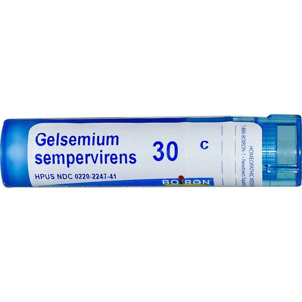 Boiron, Single Remedies, Gelsemium Sempervirens, 30C, Approx 80 Pellets