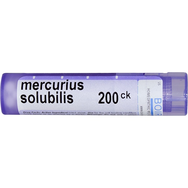 Boiron, Single Remedies, Mercurius Solubilis(マーキュリアス ソルビリス)、200CK、約80ペレット (Discontinued Item)