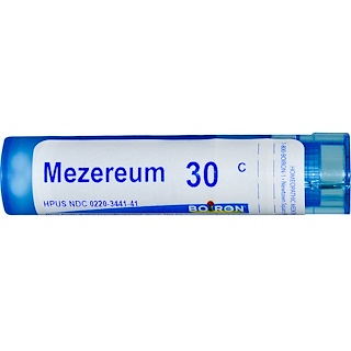 Boiron, Single Remedies, Mezereum, 30C, Aprox. 80 Pellets