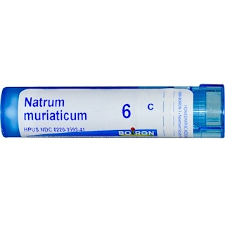 Boiron, Single Remedies, Natrum Muriaticum, 6C, Approx 80 Pellets