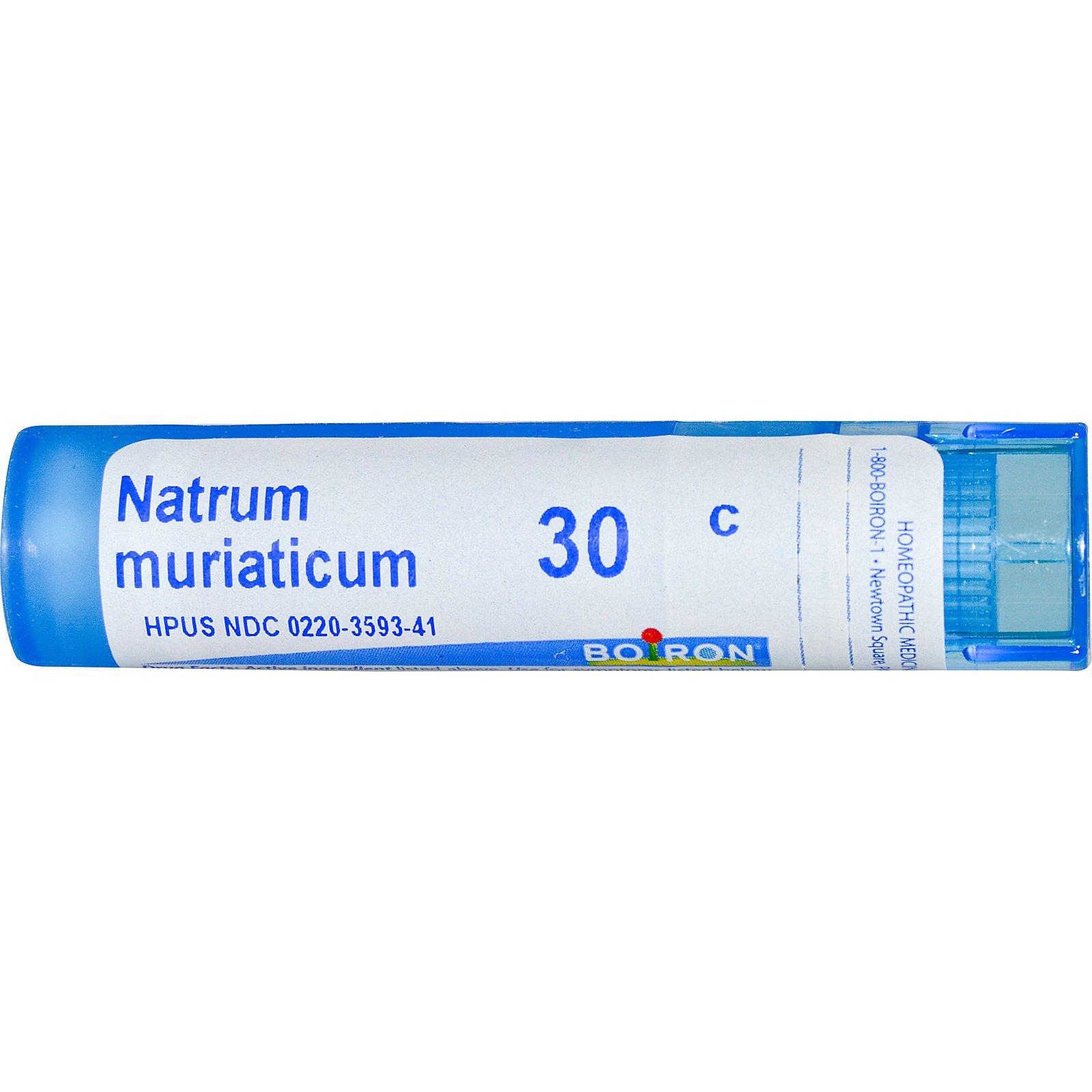Boiron, Single Remedies, Натрум муриатикум, 30C, прибл. 80 гранул