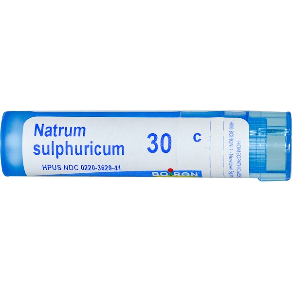 Boiron, Single Remedies, Natrum Sulphuricum, 30C, Approx 80 Pellets (Discontinued Item)