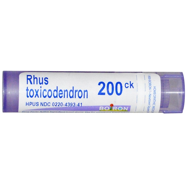 Boiron, Single Remedies, Rhus Toxicodendron, 200CK, Approx 80 Pellets