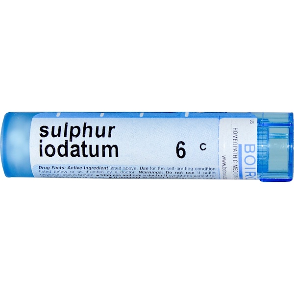 Boiron, Single Remedies, Sulphur Iodatum, 6C, 80 Pellets