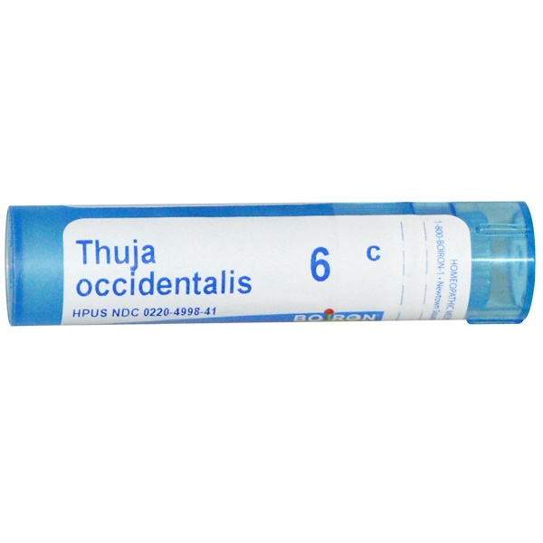 Boiron, Single Remedies, Thuja Occidentalis, 6C, 80 Pellets (Discontinued Item)