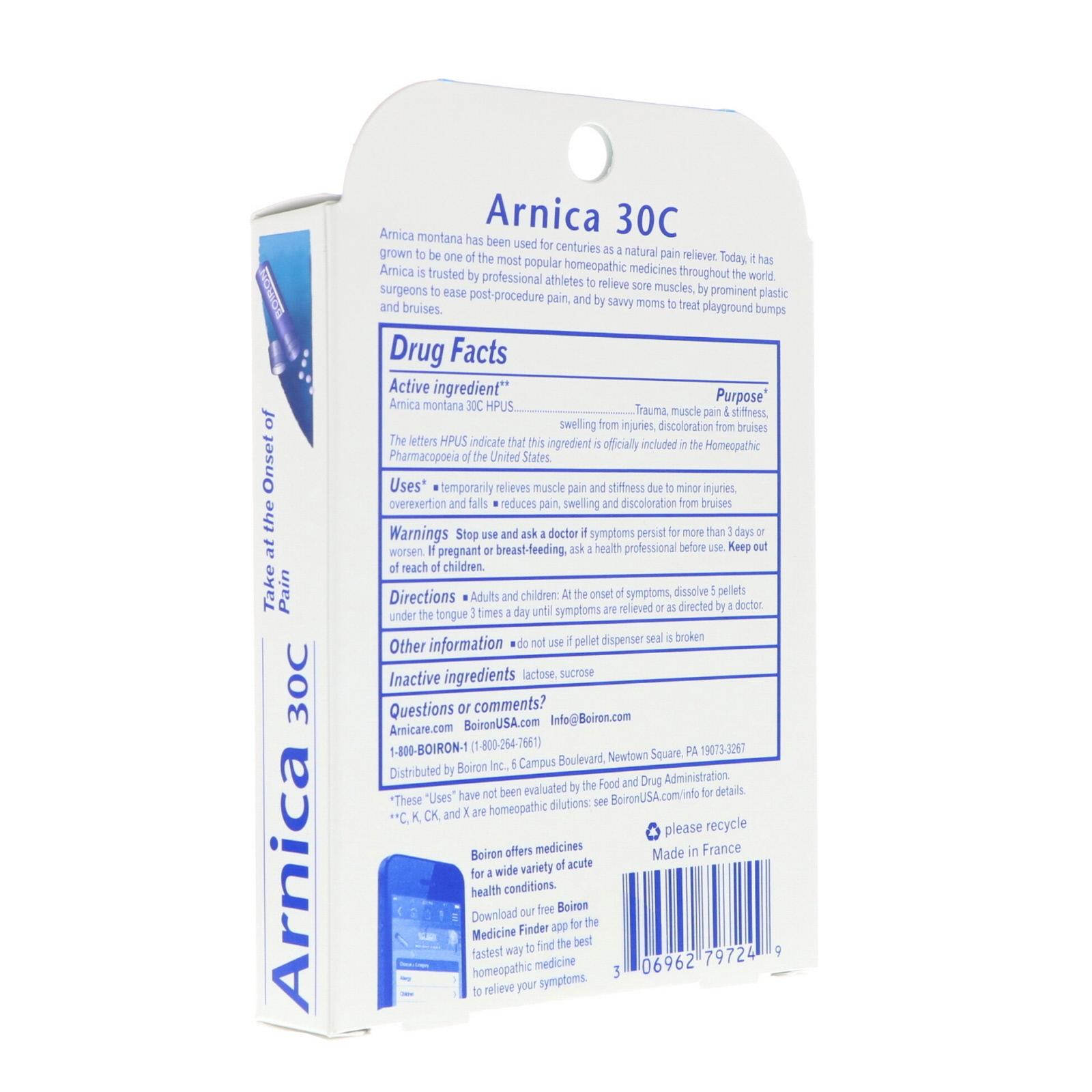 Arnica 30C, Pain Relief, 3 Tubes, 80 Pellets Each