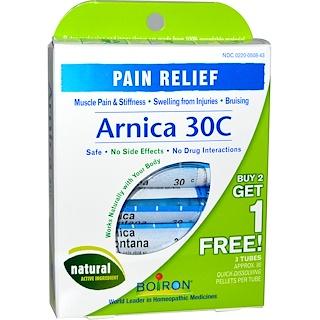 Boiron, Single Remedies, Arnica 30C, 3 Tubos, 80 bolitas cada uno
