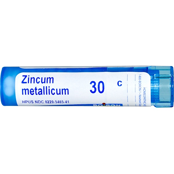 Boiron, Single Remedies, زينكوم ميتاليكوم (زينك)، 30C، 80 حبة تقريبًا (Discontinued Item)