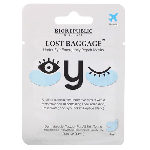 BioRepublic Skincare, Lost Baggage 系列修護眼霜,1 對裝,0.34 盎司(10 毫升)
