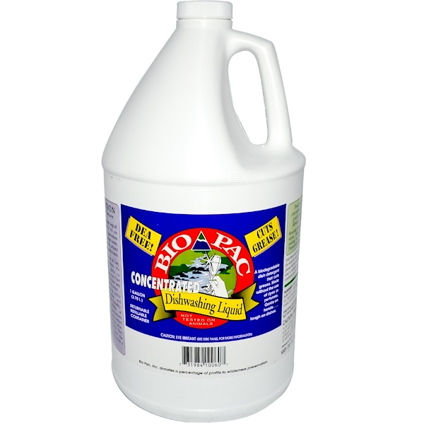 Bio-Pac, Concentrated Dishwashing Liquid, 1 Gallon (3.78 L) (Discontinued Item)