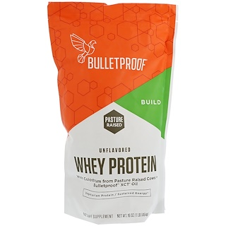 BulletProof, Whey Protein, Unflavored, 16 oz (454 g)