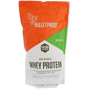 BulletProof, Сывороточный протеин, без вкуса, 16 унций (454 г)