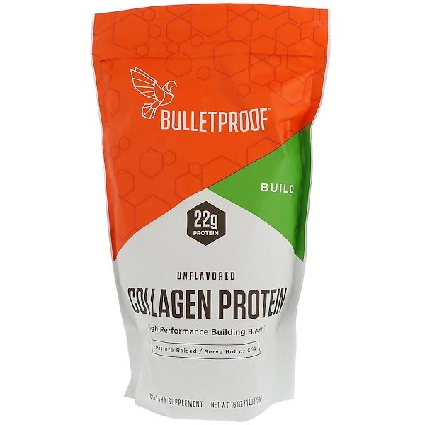 BulletProof, コラーゲンプロテイン、無風味、16 oz (454 g) (Discontinued Item)