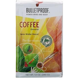 BulletProof, Coffee, Swiss Water Decaf, Ground, 12 oz (340 g)