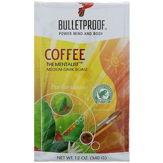 BulletProof, Coffee, The Mentalist, Medium-Dark Roast, Whole Bean, 12 oz (340 g)