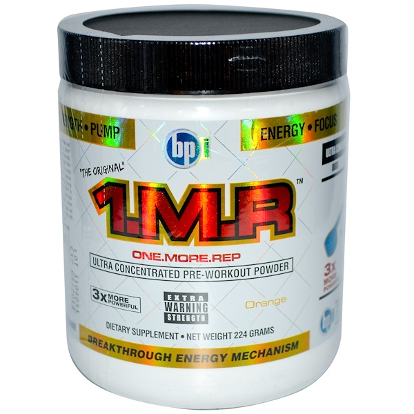 BPI Sports, 1.M.R, Ultra Concentrated Pre-Workout Powder, Orange, 224 g (Discontinued Item)
