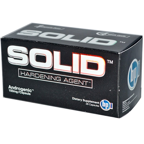 BPI Sports, Solid, Hardening Agent, 100 mg, 28 Capsules (Discontinued Item)