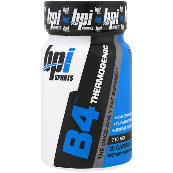 BPI Sports, B4 Thermogenic, The Once-Daily Fat Burner, 710 mg, 30 Capsules (Discontinued Item)